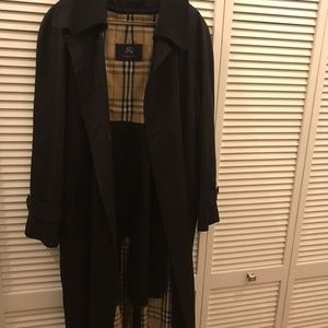 Burberry Men's Black Wool Removable Lining Trench